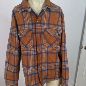 Supreme pile lined flannel shirt